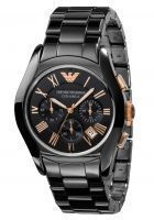 Men's Watches   Round Dial   Analog   Other - Imported Emporio Armani Ar1410 Gents Ceramic Black Chronograph Watch
