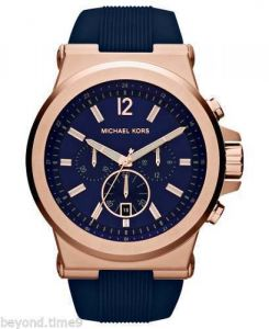 Imported Michael Kors Mk-8295 Dylan Blue Rose Gold Silicon Men