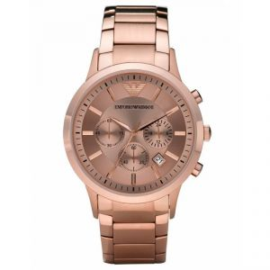 Imported Emporio Armani Ar2452 Stainless-steel Full Rose Gold Chrono Watch