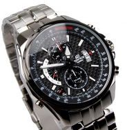 Mens' Watches   Round Dial   Metal Belt   Analog - Imported Casio 501d 1avdf Black Dial Chronograph Watch For Men