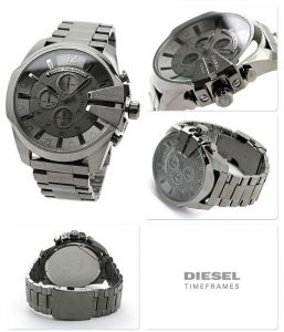 Imported Diesel Mega Chief Chronograph Grey Dial Gunmetal Men