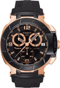 Men's Watches   Round Dial   Analog   Other - Imported Tissot T-Race Chronograph Rose Gold Black Men's Watch