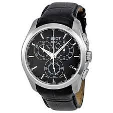 Imported Tissot T-trend Couturier Chronograph Gmt Black Dial Mens Watch T0354391605100