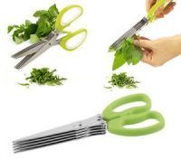 Multifunction 5 Blades Scissors-vegetable Chopper-paper Shredder
