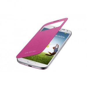 Samsung Galaxy S4 I9500 Sview Caller ID Flip Cover Book Case(pink)