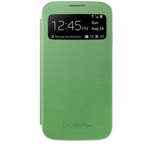 Samsung Galaxy S4 I9500 Sview Caller ID Flip Cover Book Case(green)