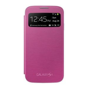 Samsung Galaxy S4 I9500 Premium S View Flip Cover Case (pink)