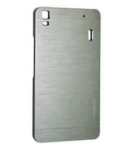 Ae Mobile Accessories Ae Motomo Metal Hard Back Cover Case For Lenovo A7000 Silver