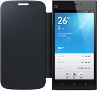 Xiaomi Mi4 Hi Grade Flip Cover (black) & Screen Guard Sc7072