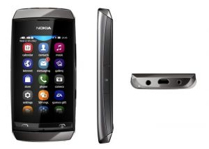 Nokia Asha 305 Mobile Phone Body (grey)(housing Only)
