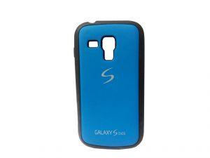 Rubber Back Cover For Samsung Galaxy S Duos-blue (design 9)