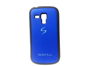 Rubber Back Cover For Samsung Galaxy S Duos-blue (design 10)