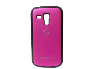 Rubber Back Cover For Samsung Galaxy S Duos-pink (design 12)