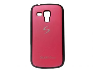Rubber Back Cover For Samsung Galaxy S Duos-red (design 13)