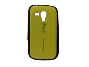 Rubber Back Cover For Samsung Galaxy S Duos S7562-yellow (design 2)