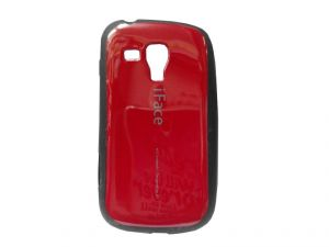 Rubber Back Cover For Samsung Galaxy S Duos S7562-red(design 3)