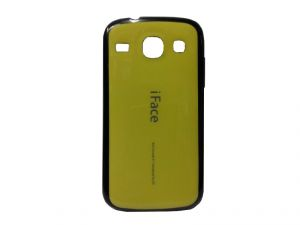 Rubber Back Cover For Samsung Galaxy Core I8262-yellow (design 5)