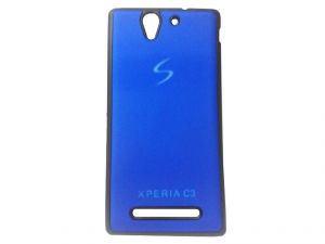 Kelpuj Blue Mobile Back Cover For Sony Xperia C3