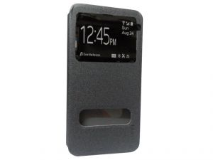 Kelpuj Artificial Leather Grey Flip Cover For Apple iPhone 6 Plus - Kel-as29606784