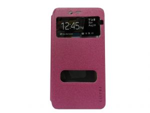 Kelpuj Artificial Leather Pink Flip Cover For Coolpad Note 3 - Kel-as29606788