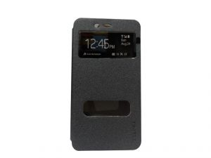 Kelpuj Artificial Leather Grey Flip Cover For Coolpad Note 3 - Kel-as29606790