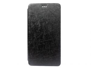 Kelpuj Artificial Leather Black Flip Cover For Lenovo Vibe P1m - Kel-as29606800