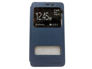 Kelpuj Artificial Leather Blue Flip Cover Flip Cover For Samsung Galaxy On5 - Kekel-as29606826