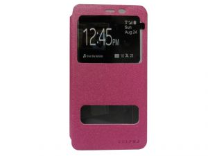 Kelpuj Artificial Leather Pink Flip Cover For Samsung Galaxy On7 - Kel-as29606820