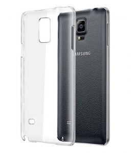 Tos Back Cover For Samsung Galaxy Note 4 Clear/transparent Silicon Cover