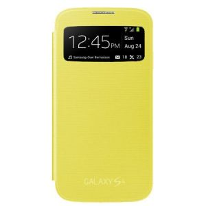 Samsung Galaxy S4 I9500 Sview Caller ID Flip Cover Book Case(yellow)