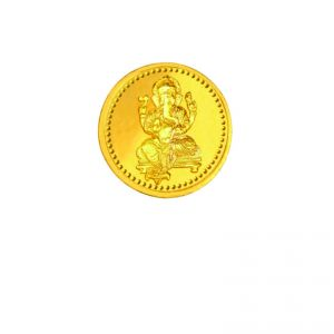 Coins - 2 gms 24 Kt purity 995Ganesha Gold Coin by Karatcraft