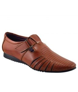 Elvace Dark Tan Jetlee Casual Men Shoes-4005