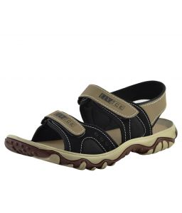 Elvace Black_cream Cluster Sandal Men Shoes-4009