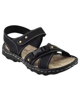 Elvace Black Bukkal Sandal Men Shoes-4011