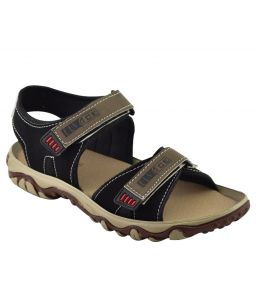 Elvace Black Butu Sandal Men Shoes-4013