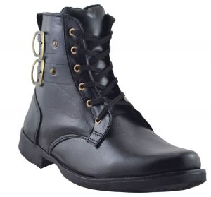 Elvace Black High-ankle Boot Men Shoes_p