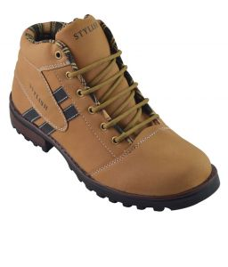 Elvace Tan Combat Boot -5013