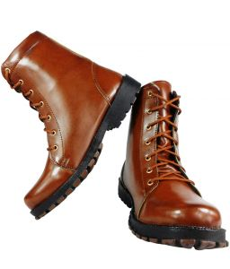 Elvace Dark Tan Shoes Boot-5017