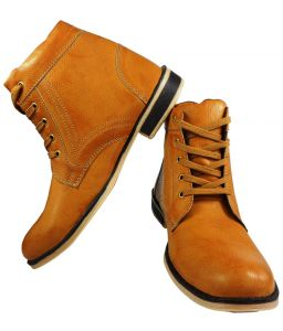 Elvace Yellow Men Boot-5023