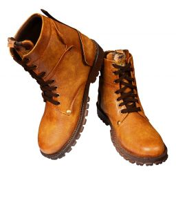 Elvace Tan Tree Land Boot Men Shoes-5049