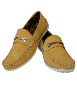 Elvace Yellow Yorkuz Casual Men Shoes-6018a