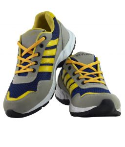 Elvace Yellow_blue_grey Wiber Sports Men Shoes-8026