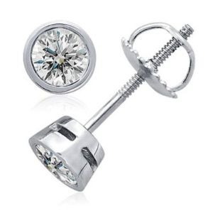 Sheetal Diamonds 0.40TCW Real Round Solitaire Diamond Screw Back Earring E0119-14k