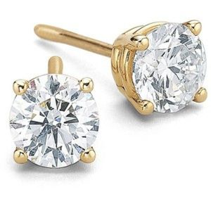 Sheetal Diamonds 0.60TCW Real Round Solitaire Diamond Earring E0187-10K