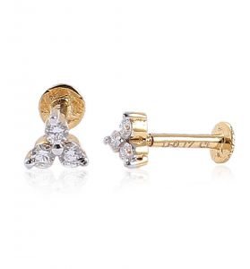 Sheetal Diamonds 0.35tcw Real Natural Round Diamond Daily Wear Cluster Earring E0224-14k