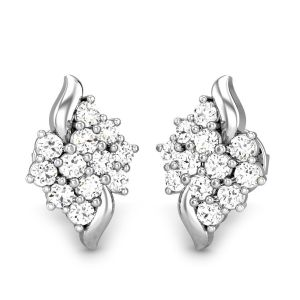 Sheetal Diamonds 0.60TCW Real Round Diamond Stud Earring For Woman E0263-18K