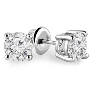 Sheetal Diamonds 0.50tcw Real Round Solitaire Diamond Exclusive Party Wear Stud Earring E0297w-18k