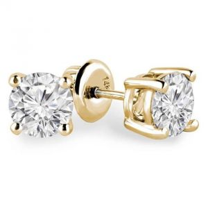Sheetal Diamonds 1.50tcw Exclusive Real Round Diamond Classic Looking Stud Earring 10k-e0297y