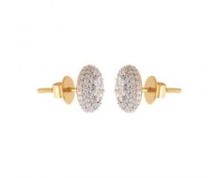 Sheetal Diamonds 1.40tcw Exclusive Real Natural Round Diamond Stud Earring 10k Yellow Gold