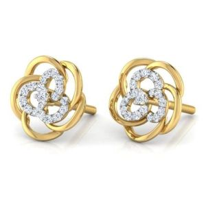 Sheetal Diamonds 0.80TCW Real Round Diamond Daily Wear Earring In Yellow Gold E0309-10k